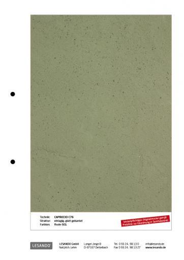 Handmuster CAPRICCIO 76 - einlagig, glatt gekantet