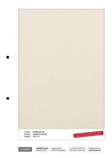 Handmuster CAPRICCIO 01 - geglättet Standard